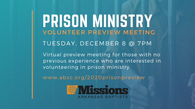 2020 Prison Ministry Preview-ONLINE EVENT - December Editon