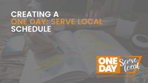 Creating a One Day Schedule