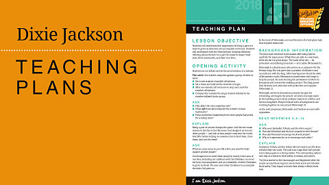 Teaching Plans — Dixie Jackson