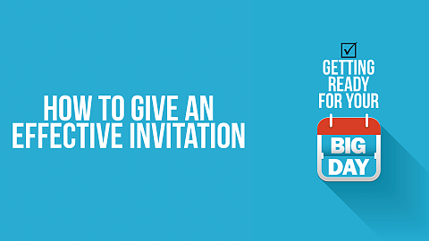 How To Give an Effective Invitation