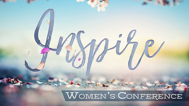 2018 Inspire Womens Conference on learn about jesus banner