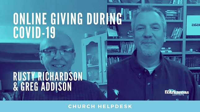 Church Helpdesk: Online Giving during COVID-19