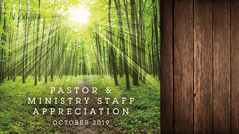 Pastor Staff Appreciation Brochure 2019
