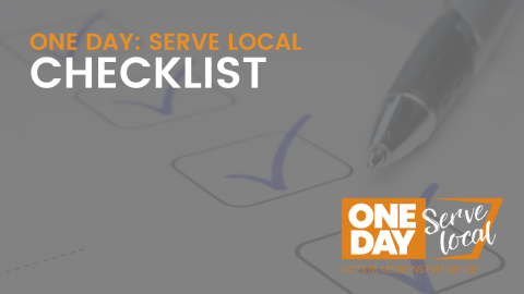 SERVE LOCAL: Checklist