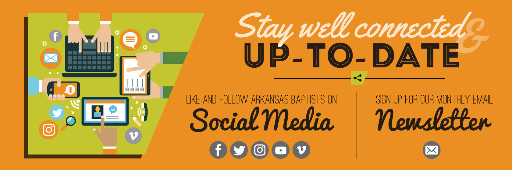 Subscribe to our newsletter and get instant updates on social media.